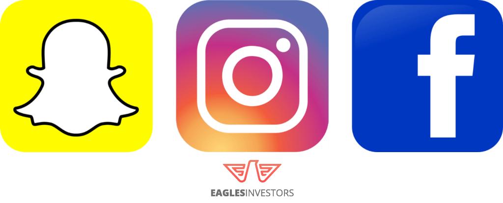 social networks trend instagram snapchat